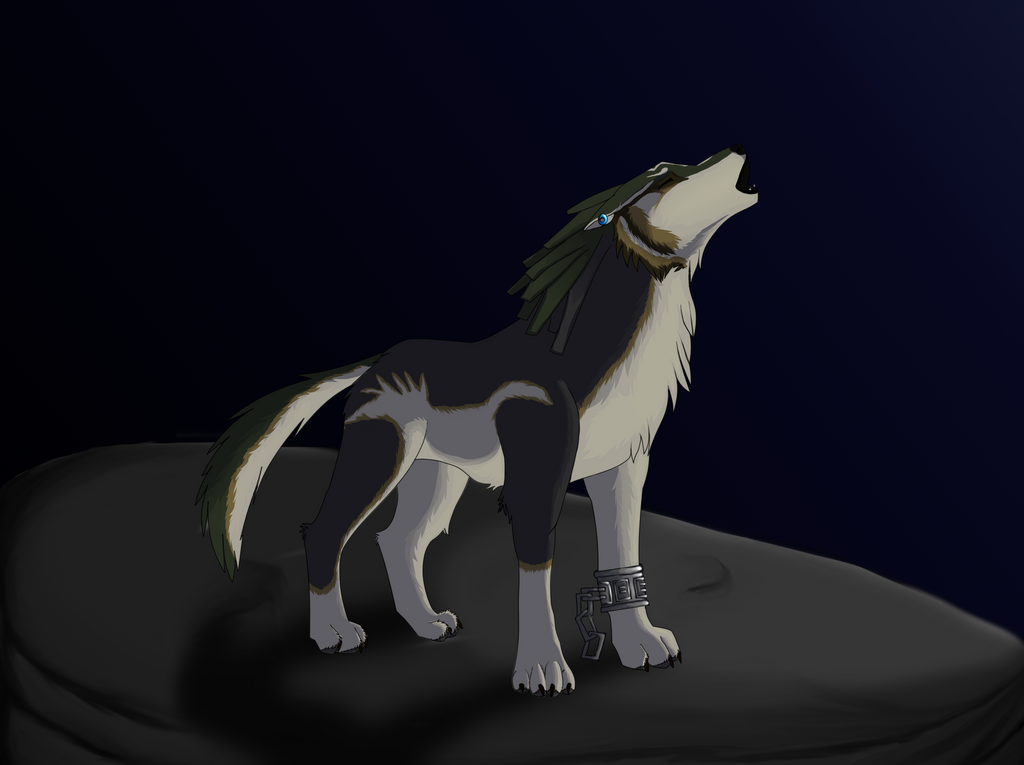howling wolf link by arime19 on deviantart
