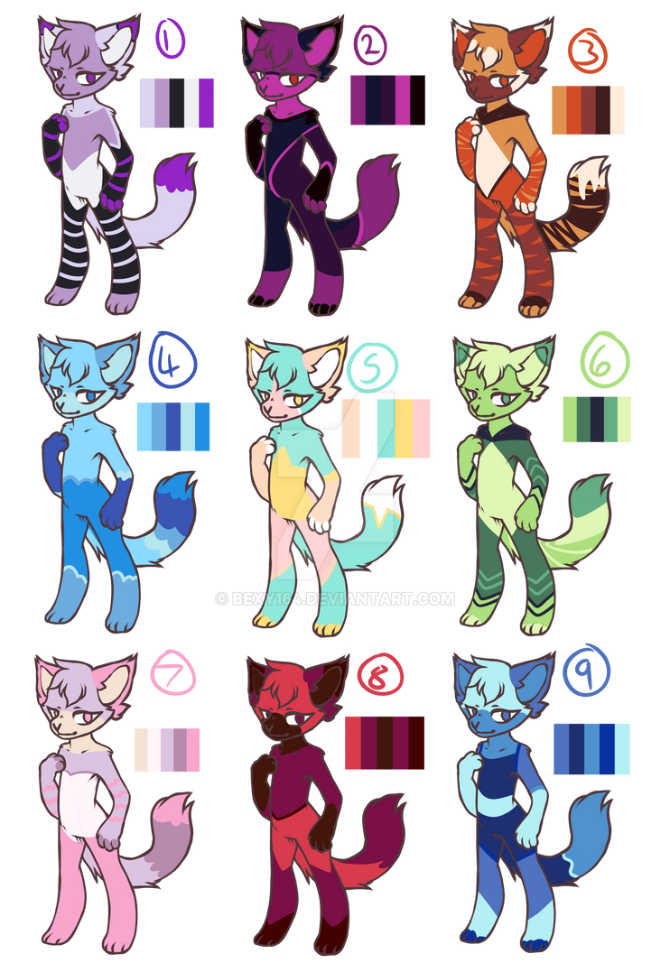 SU Themed Adopts Auction OPEN (3/9) by Bexy164
