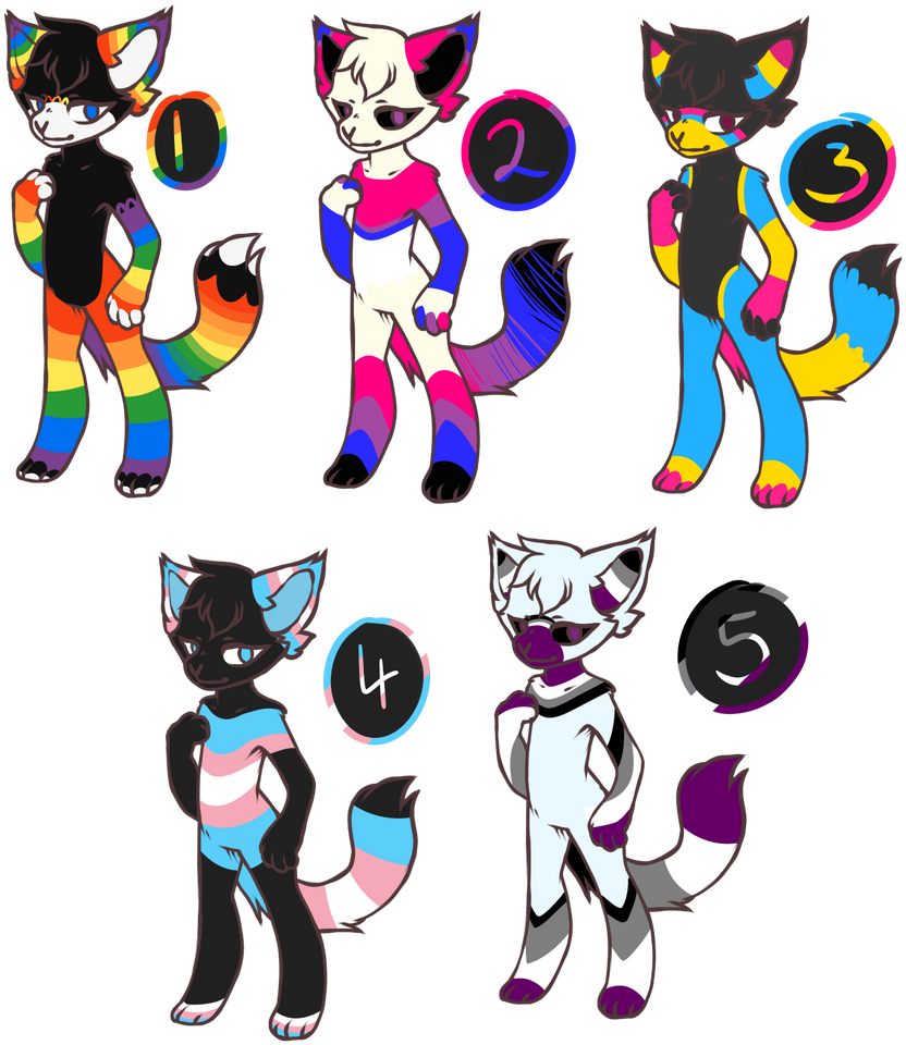 Pride Month Adopts *CLOSED* By Bexy164 On DeviantArt