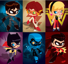 Young Justice Invasion Chibis by KWESTONE