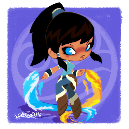 Legend of Korra Chibi by KWESTONE
