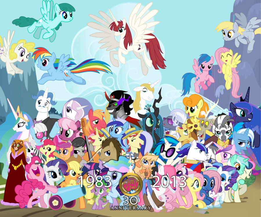 Mlp Wallpapers: My Little Pony: 30th Anniversary Wallpaper By SMWStudios