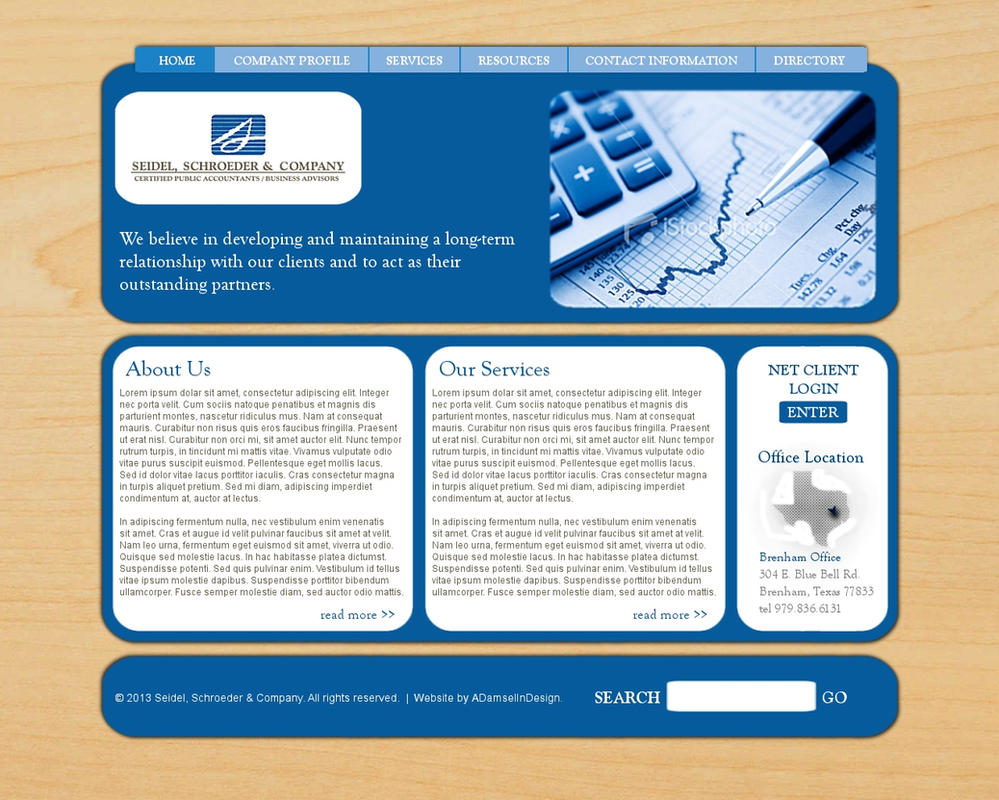 Accounting Firm Web Design by ADamselinDesign on DeviantArt
