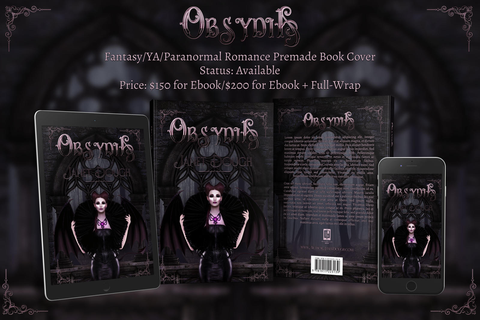 Obsydia - Dark Fantasy/Paranormal Romance 3D Mock