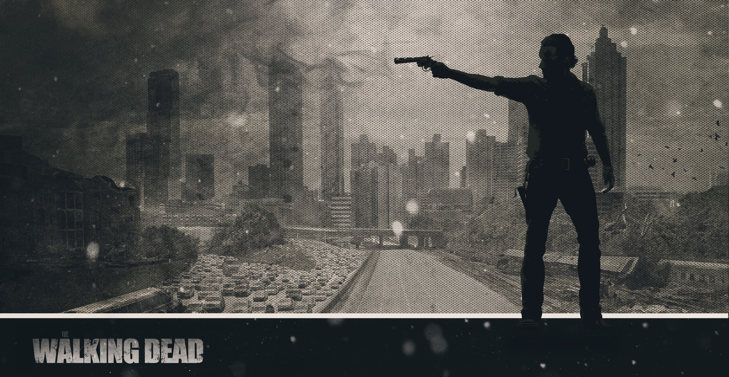 Wallpaper The Walking Dead Rick Atlanta By Atomicxmario On
