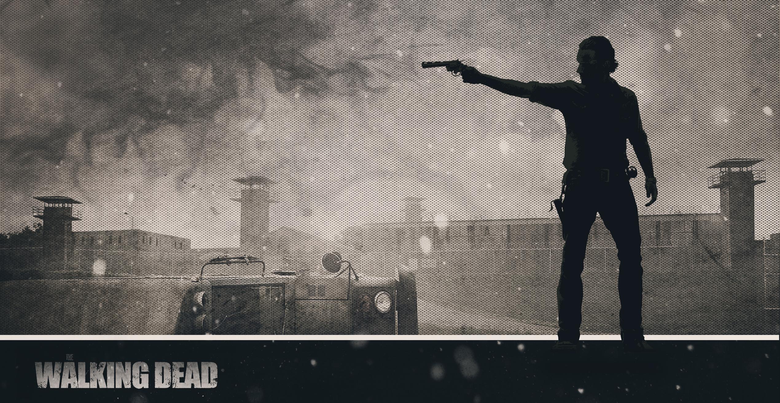 Wallpaper The Walking Dead Rick Prison By Atomicxmario On