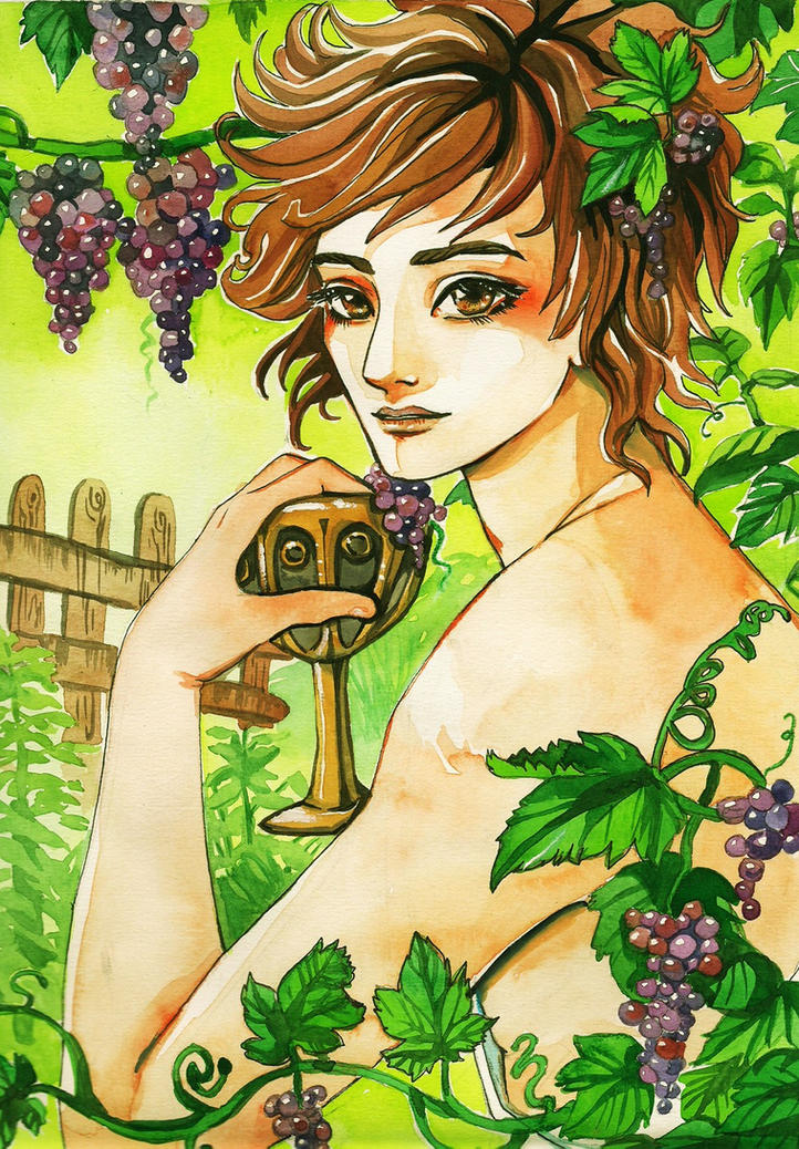 Dionysus by spiderlady on DeviantArt  Dionysus Drawing
