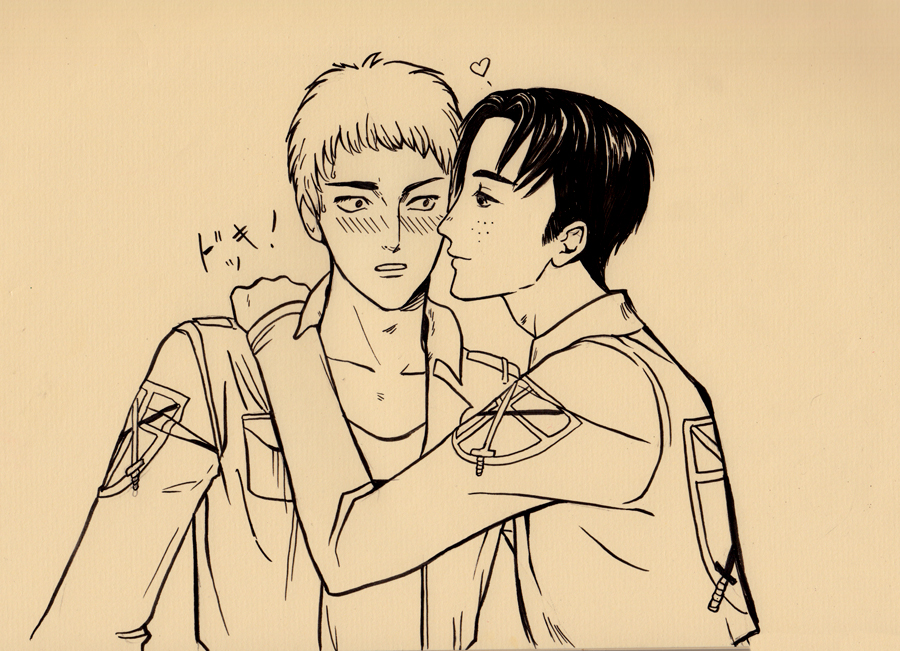 Jean x marco yaoi more like this 29 comments