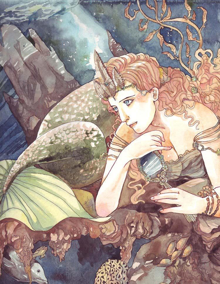Mermaid's Daydream by spiderlady
