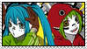 Miku and Gumi stamp by xxXDeidaraXxx1235