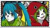 Miku and Gumi stamp by xxXDeidaraXxx1235
