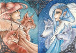 ACEO Winter Elves