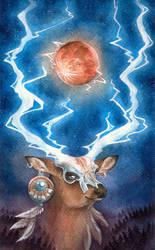 Thunder Buck Moon by fenifire