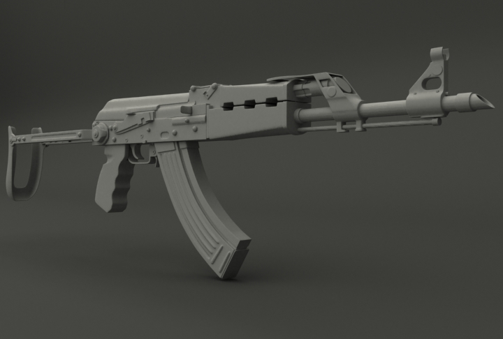 Images of Ak 47 Drawing 3d - industrious info
