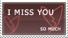 """I Miss You"" stamp by rainbeos"