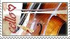 Cello love stamp by rainbeos