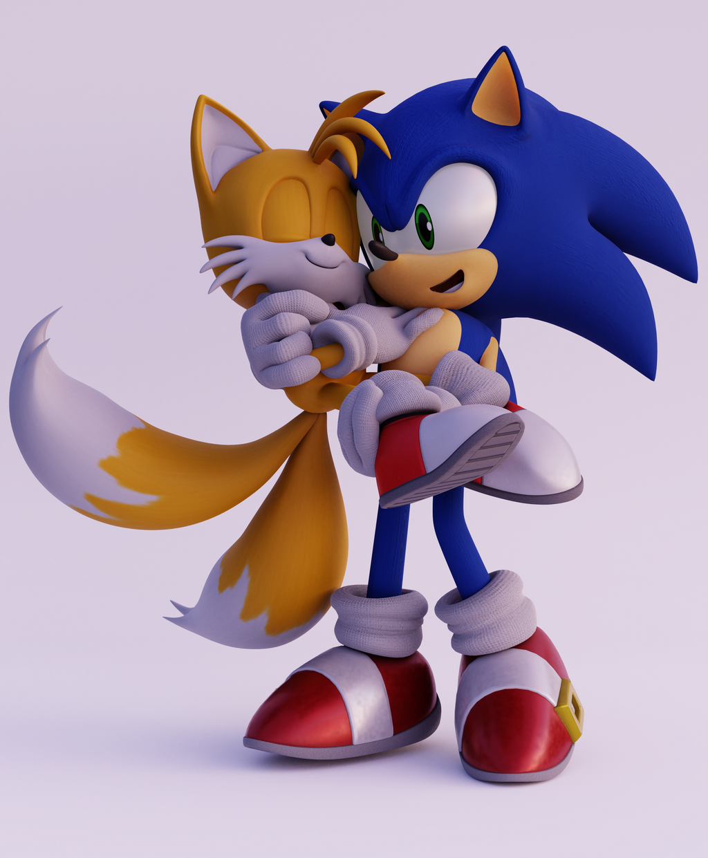 (Sonic)-Sontails Carrying By CutieTree On DeviantArt