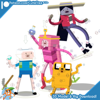(AdventureTime)- Minecraft Rigs [PatreonRelease]