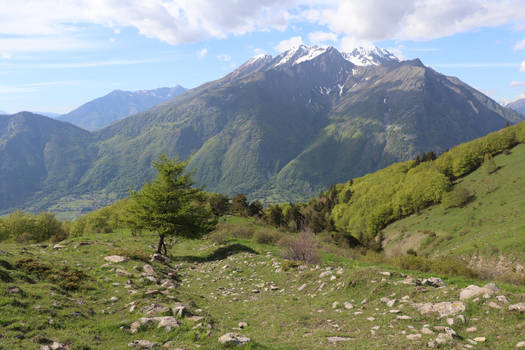 Mountains in Alps, hike to La Salette