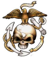 USMC Custom tattoo design by dustMights