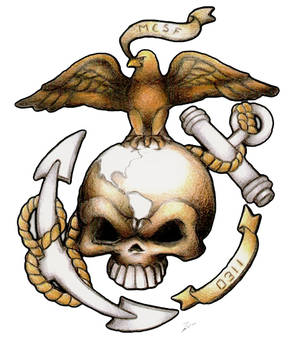 USMC Custom tattoo design