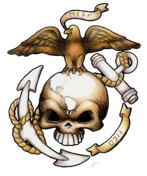 USMC Custom tattoo design