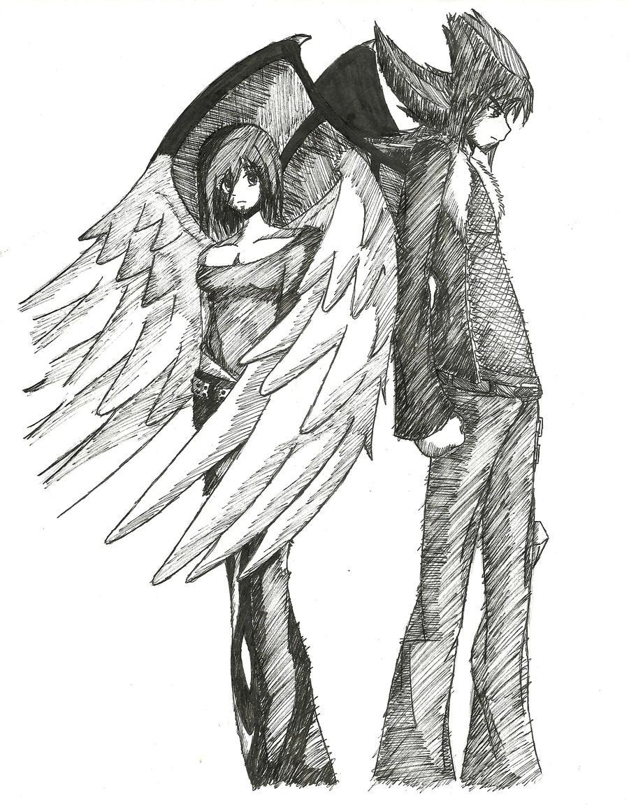 Angel and Demon by Misuki-Hikotsu on DeviantArt
