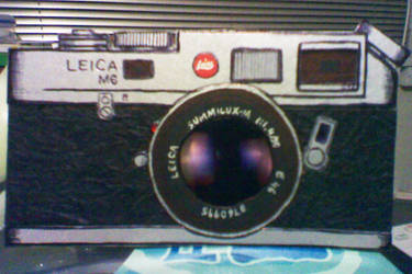 Handmade card for my photographer bf... Leica M6 by NetsyrkSpew
