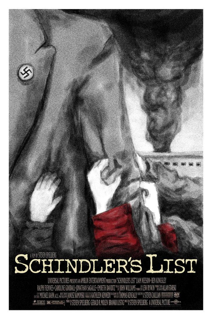 schindlers list movie poster by alocius on deviantart