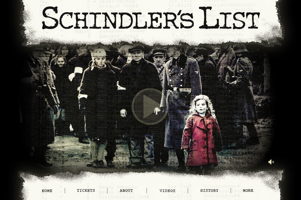 a description of schindlers list of stunning films