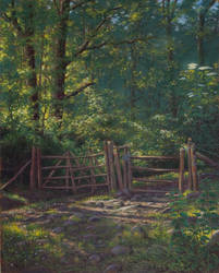 The gate : oil on canvas by wimke