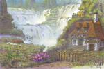 Imaginary waterfall