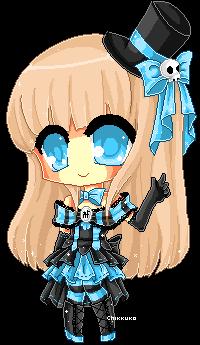 Pixel Lady Black by Chikukko