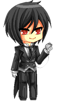 One Hell Of A Pixel Butler by Chikukko