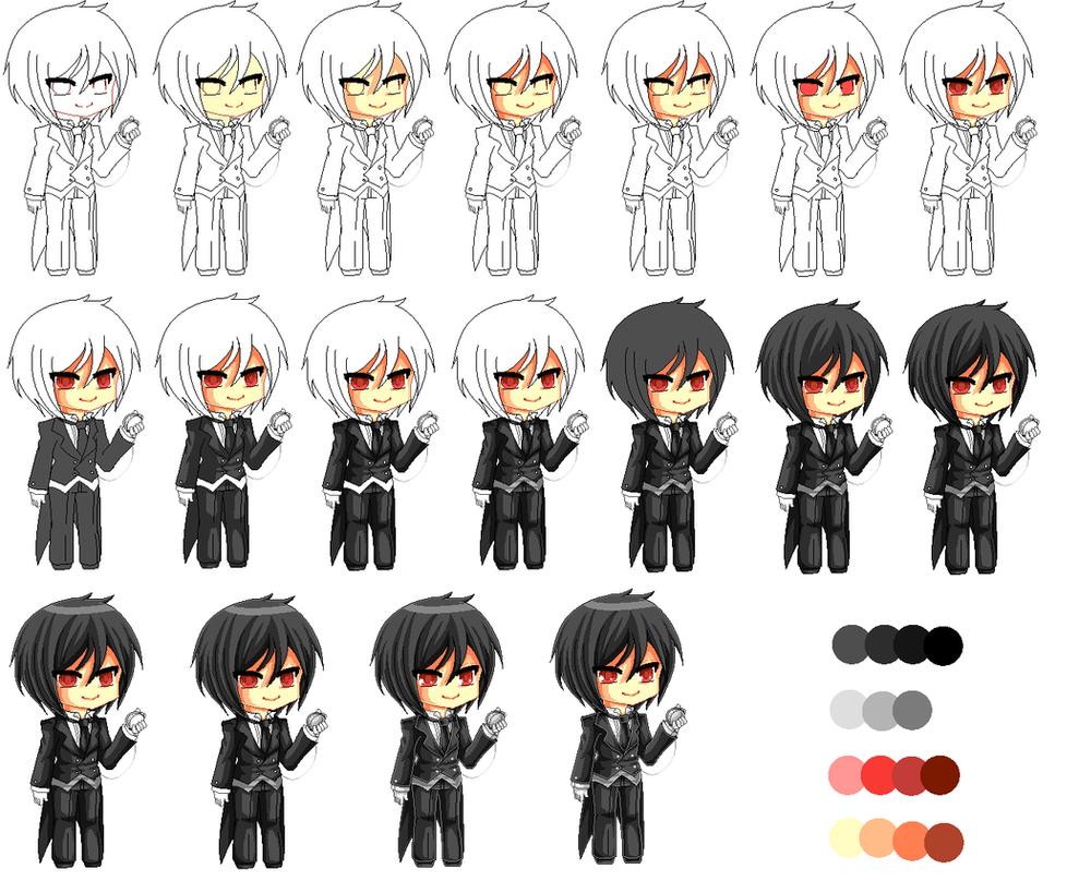 Process of a Pixel Butler by Chikukko