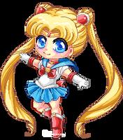 Sailor Pixel Moon by Chikukko