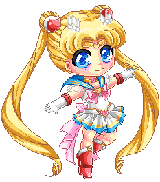 Pixel Super Sailor Moon by Chikukko