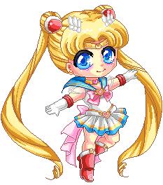 Pixel Super Sailor Moon by Chikukko