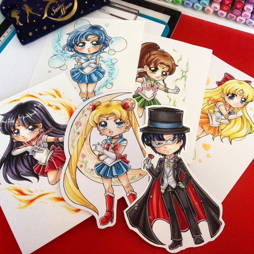 Sailor Moon Chibis by Chikukko