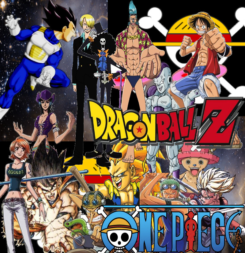 Dragon ball z and one piece by jspsychuout on deviantart - Dragon ball one piece ...