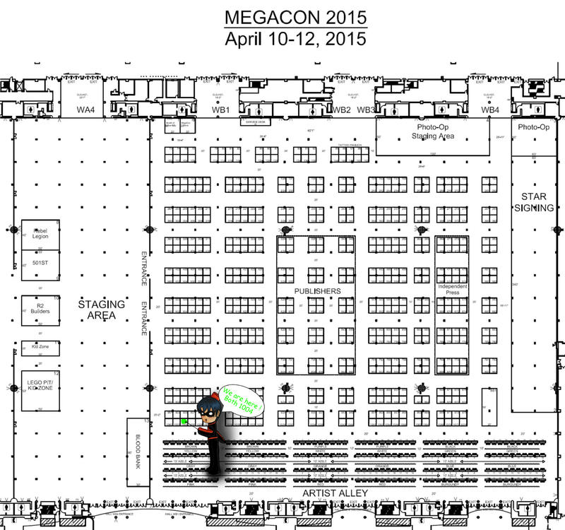Megacon Floor Plan 2015 by dickiejaybird