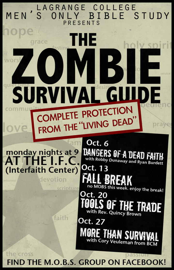 bible study zombie poster by treybacca on deviantart