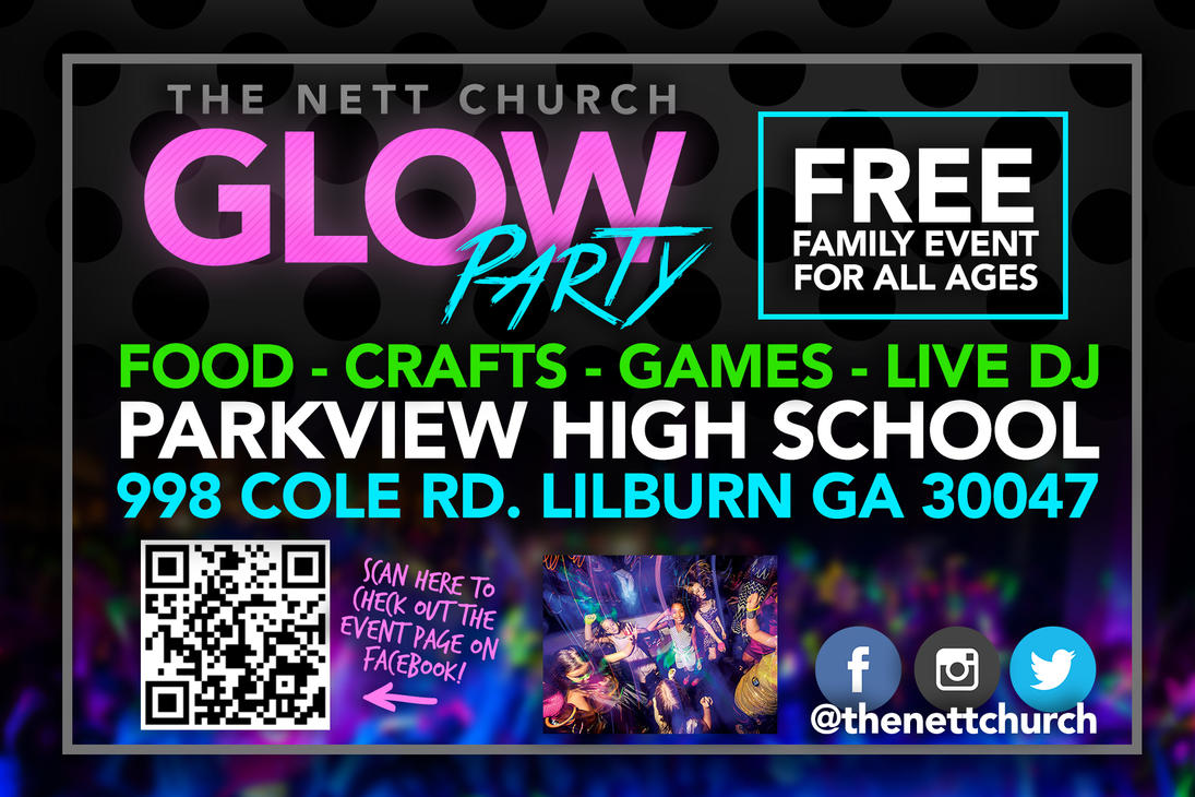 Glow Party Postcard by Treybacca