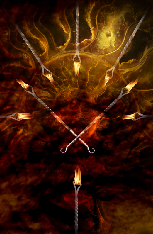 8 of Wands by karacol