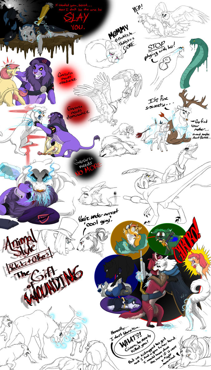 Animal Style: The Gift of Wounding (Yukiki) by LionessGamer