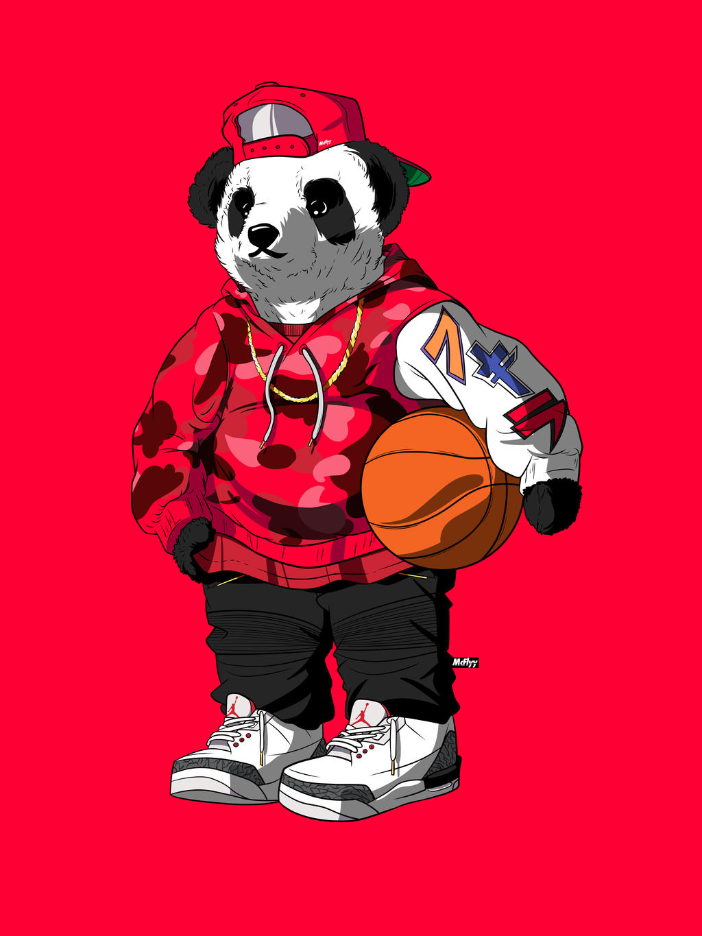 Panda bear by akira supreme by itsmcflyy on deviantart - Blood gang cartoon ...