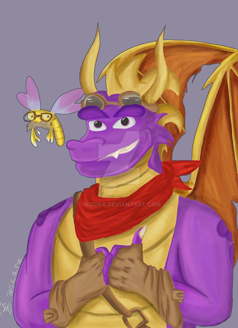 Adult Spyro (Spyro fanart) by Wizdra
