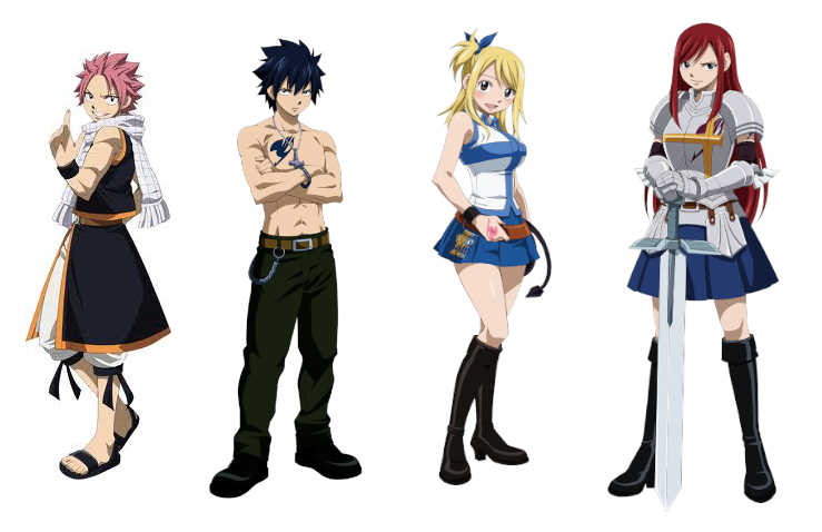 Anime Characters Fairy Tail : Fairy tail s main characters by evlovmusic on deviantart