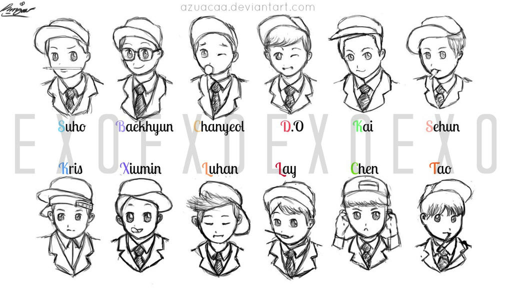 Exo Chibi Coloring Pages Related Keywords