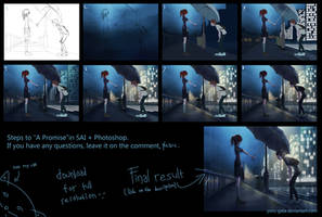 Step by step 'A Promise' by Claarin
